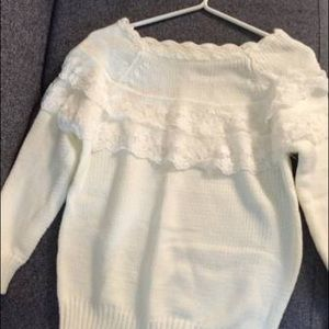 Sweaters - White lace sweater